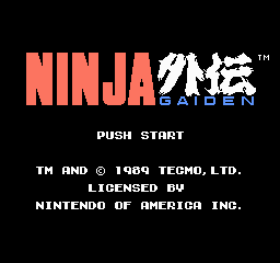 Ninja Gaiden Title Screen