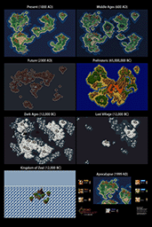 Chrono Trigger All Overworlds Map Poster Thumb
