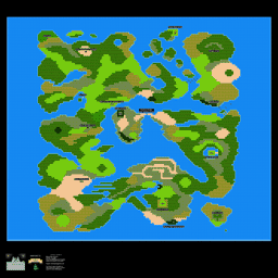 Dragon Warrior 3 Alefgard Overworld Map Poster Thumb