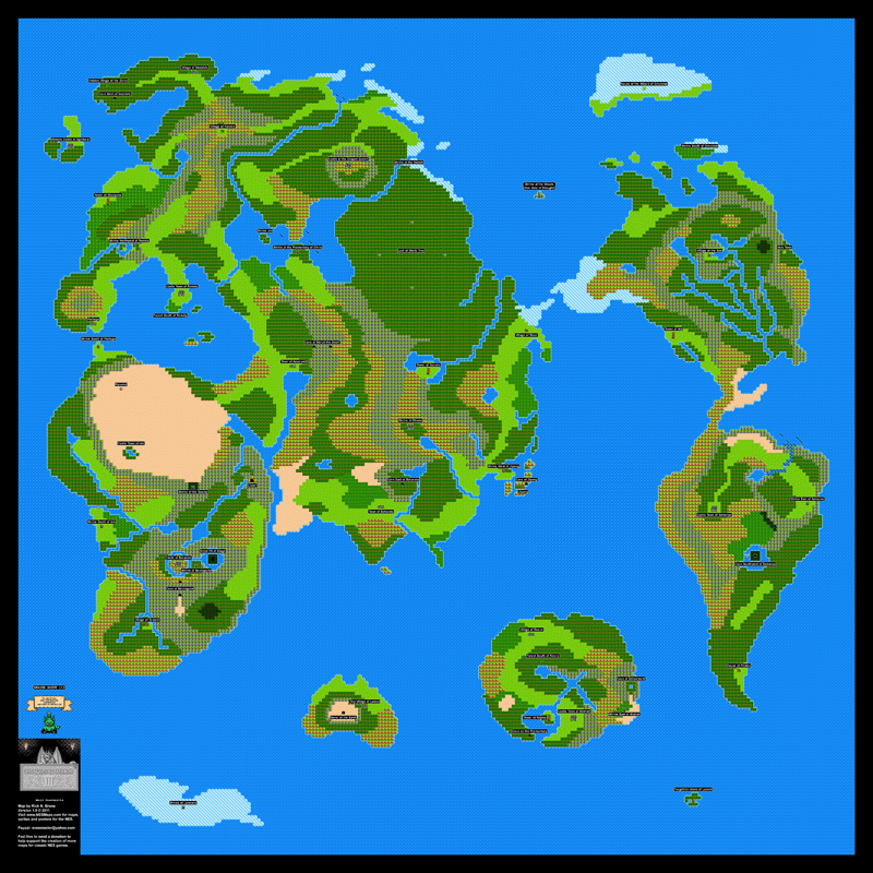 Dragon Warrior III Main Overworld Poster