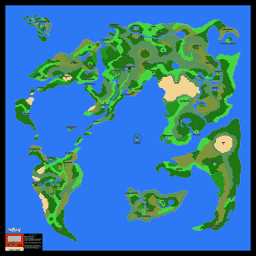 Dragon Warrior 4 Main Overworld Map Poster Thumb