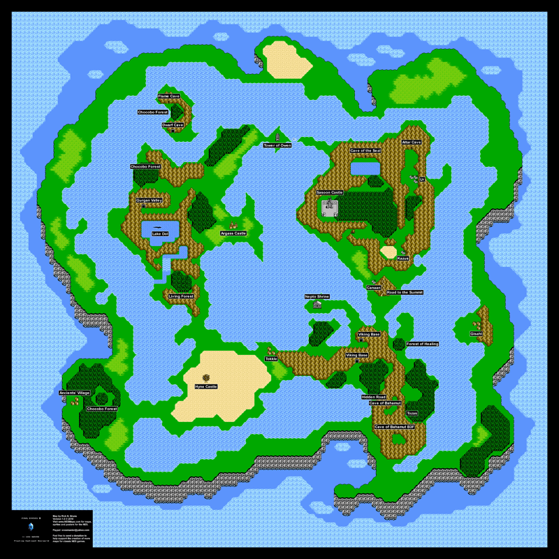 Final Fantasy III (3j) Floating Continent Overworld Poster