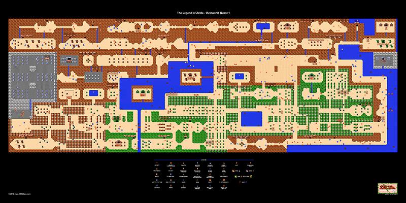 The Legend of Zelda 1st Quest Overworld 24\