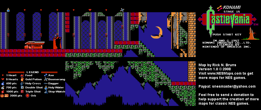 Castlevania World Map.Castlevania Map Selection Labeled Maps
