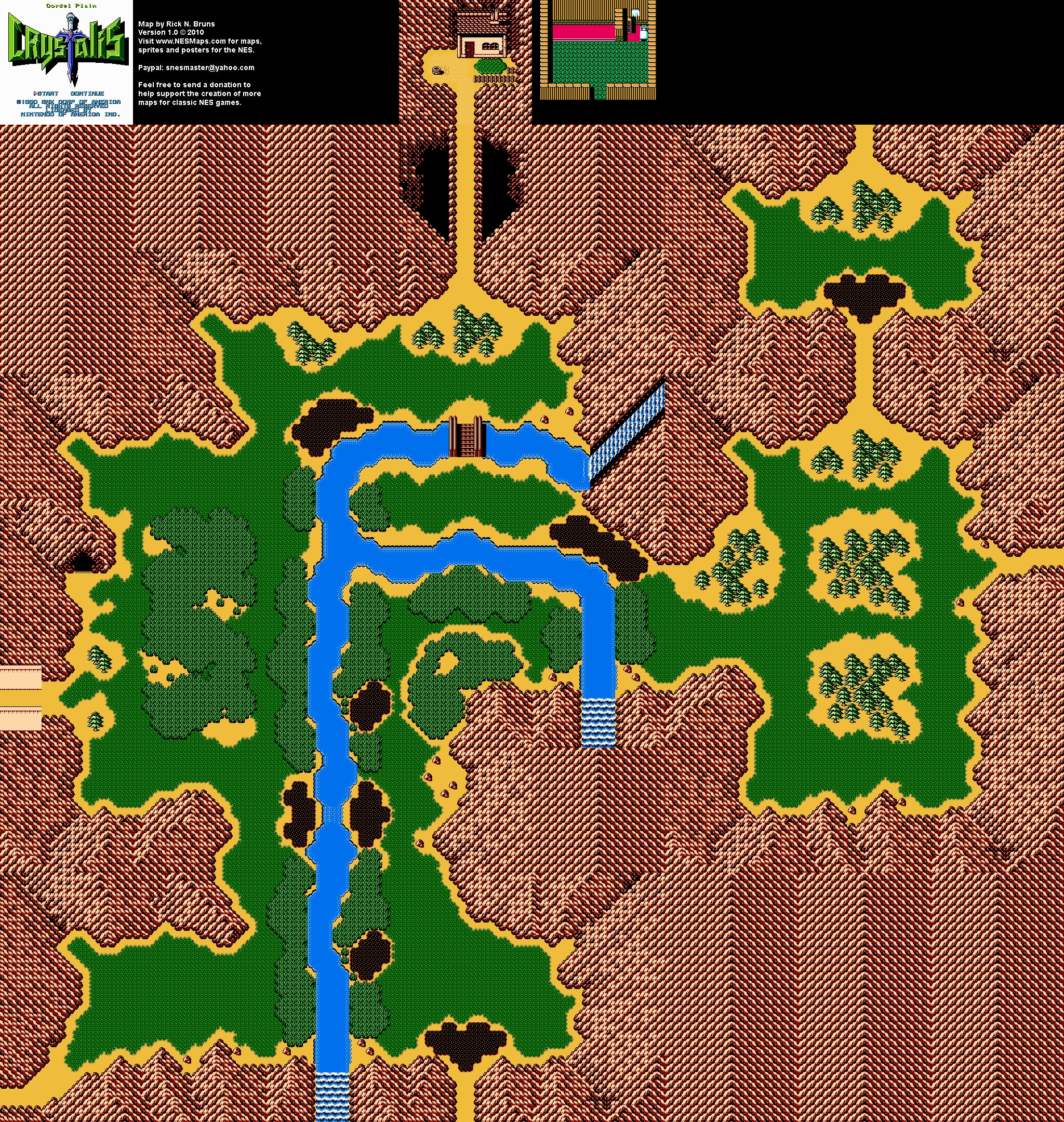 Crystalis - Cordel Plain Nintendo NES Map BG