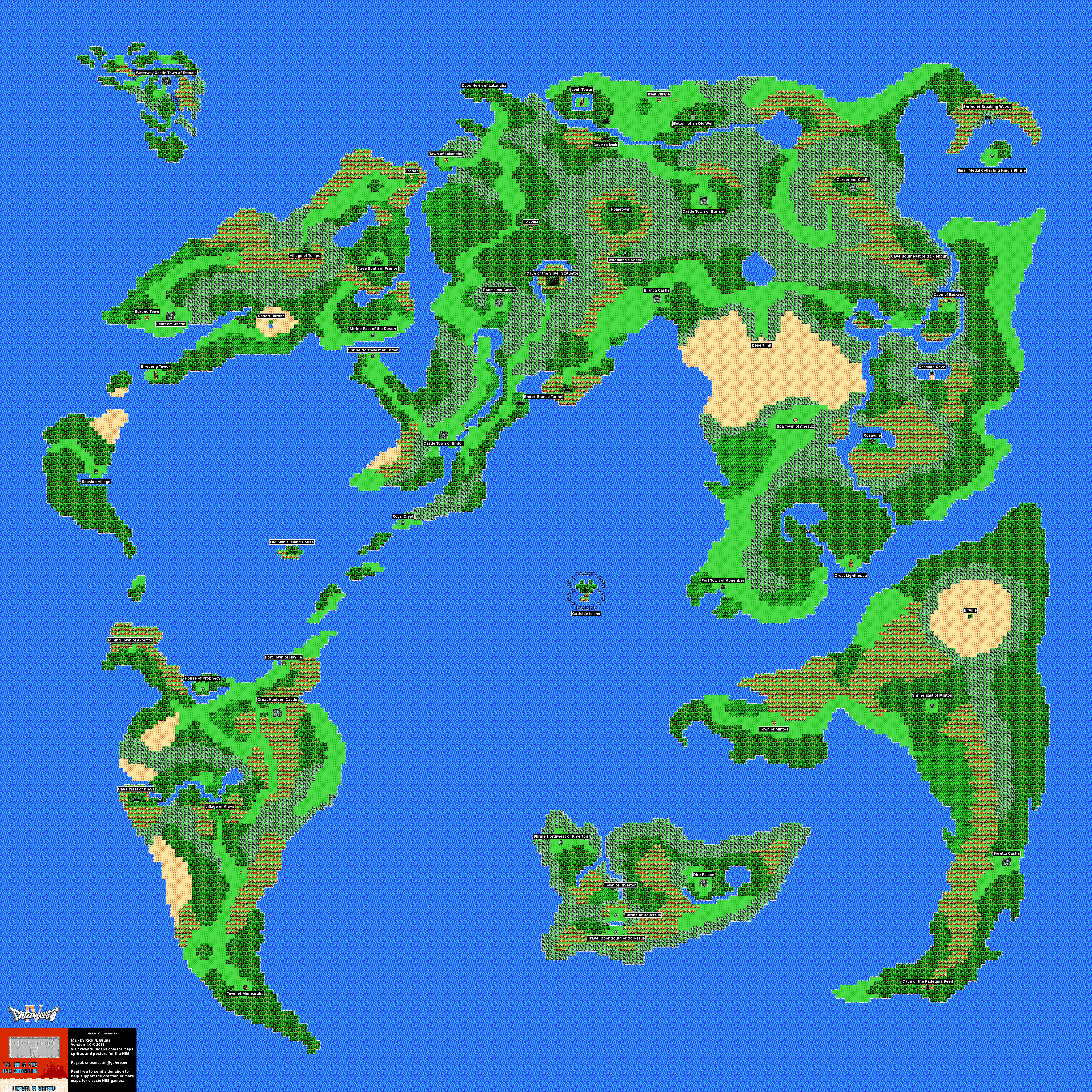 Dragon Warrior Iv Map Selection Labeled Maps