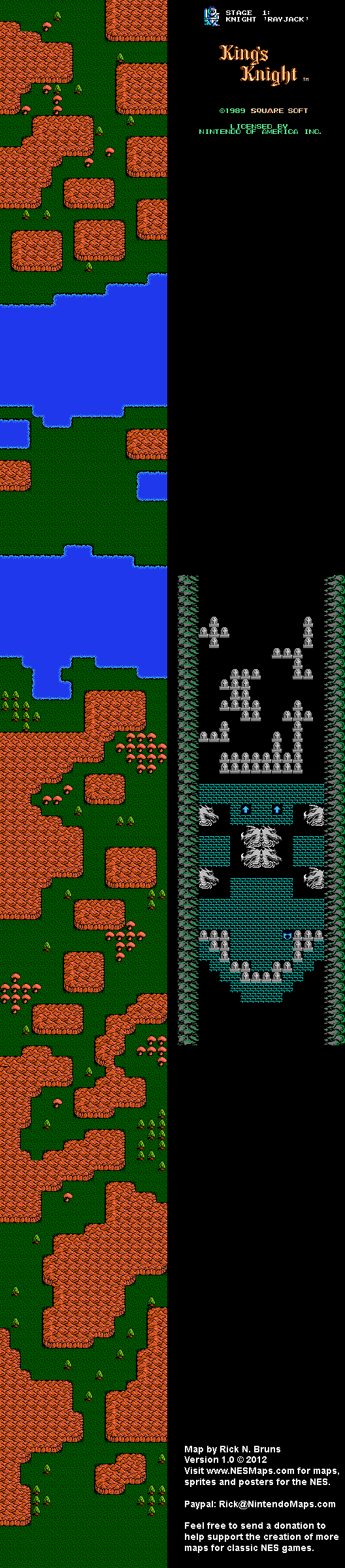 King S Knight Stage 1 Nintendo Nes Map Bg