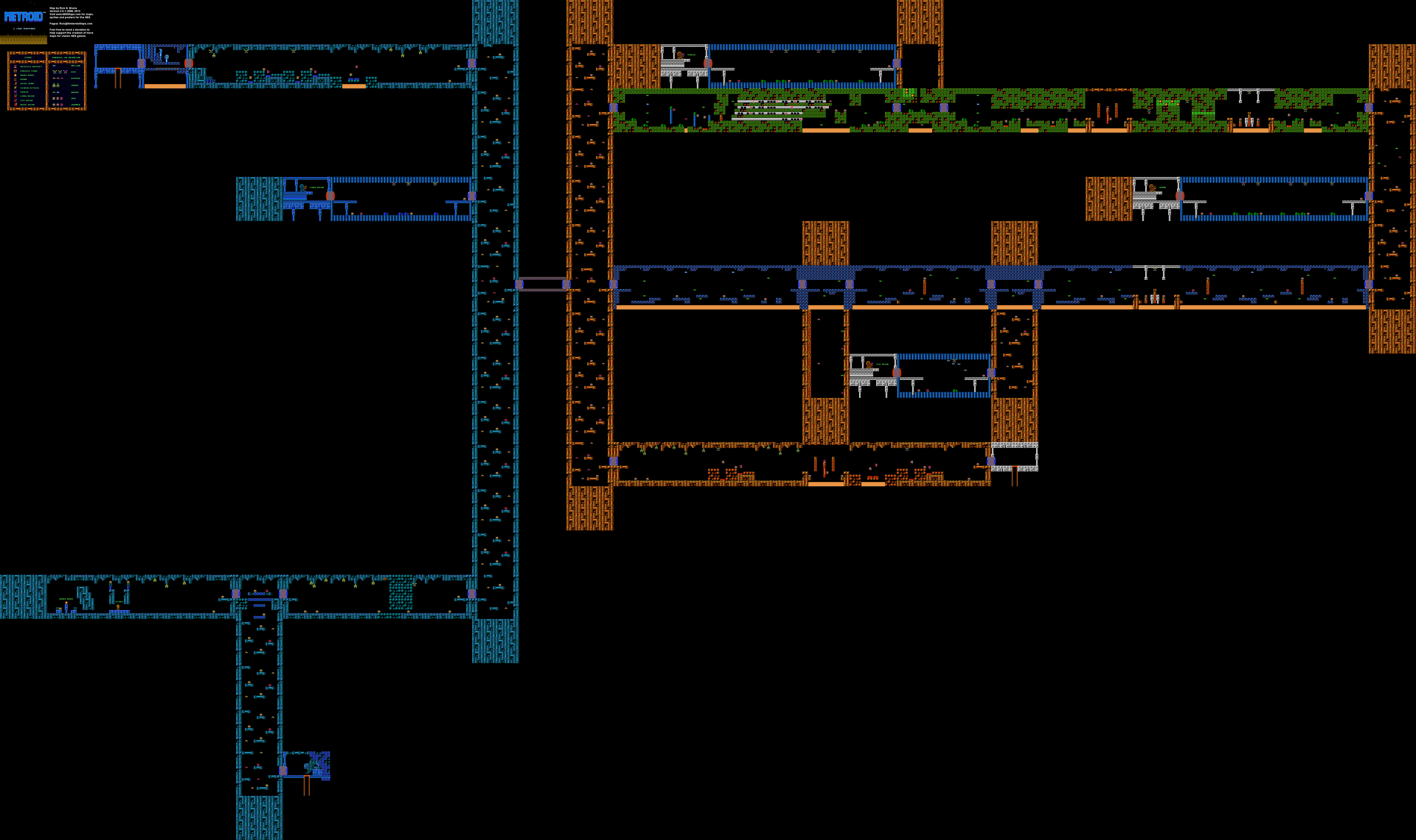 Full Pixel » Map For Metroid