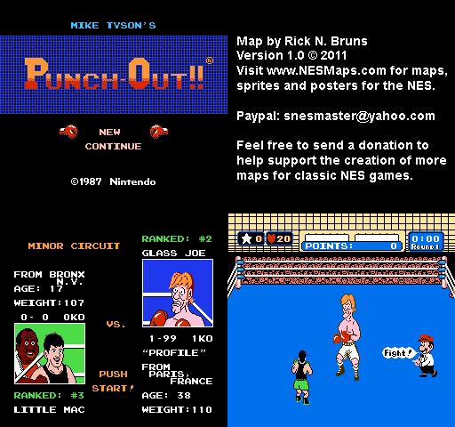 Mike Tyson S Punch Out Glass Joe Minor Circuit Nintendo