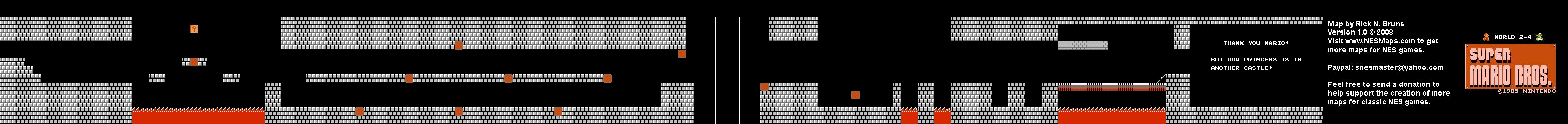 Super Mario Brothers - World 2-4 Nintendo NES Background ...