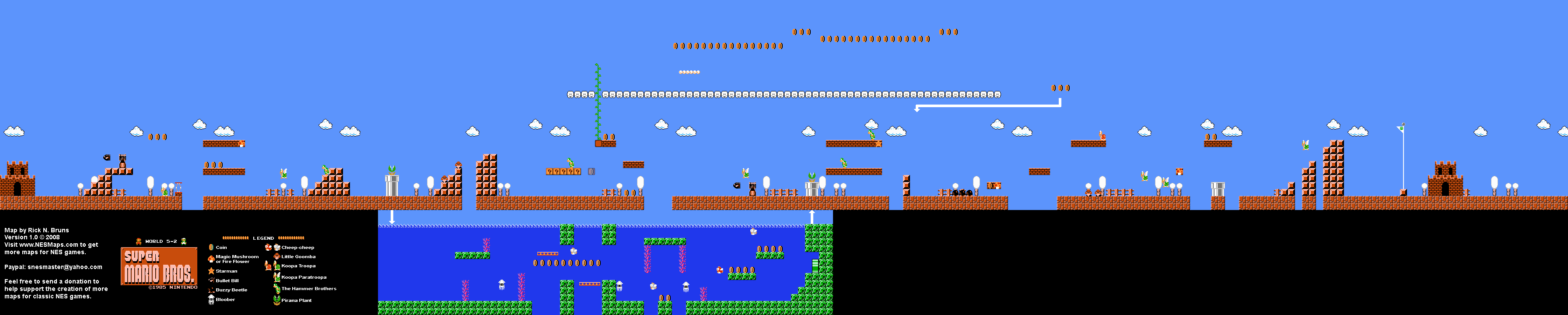 Home | Super Mario Brothers Map Select | Prev Map | Next Map