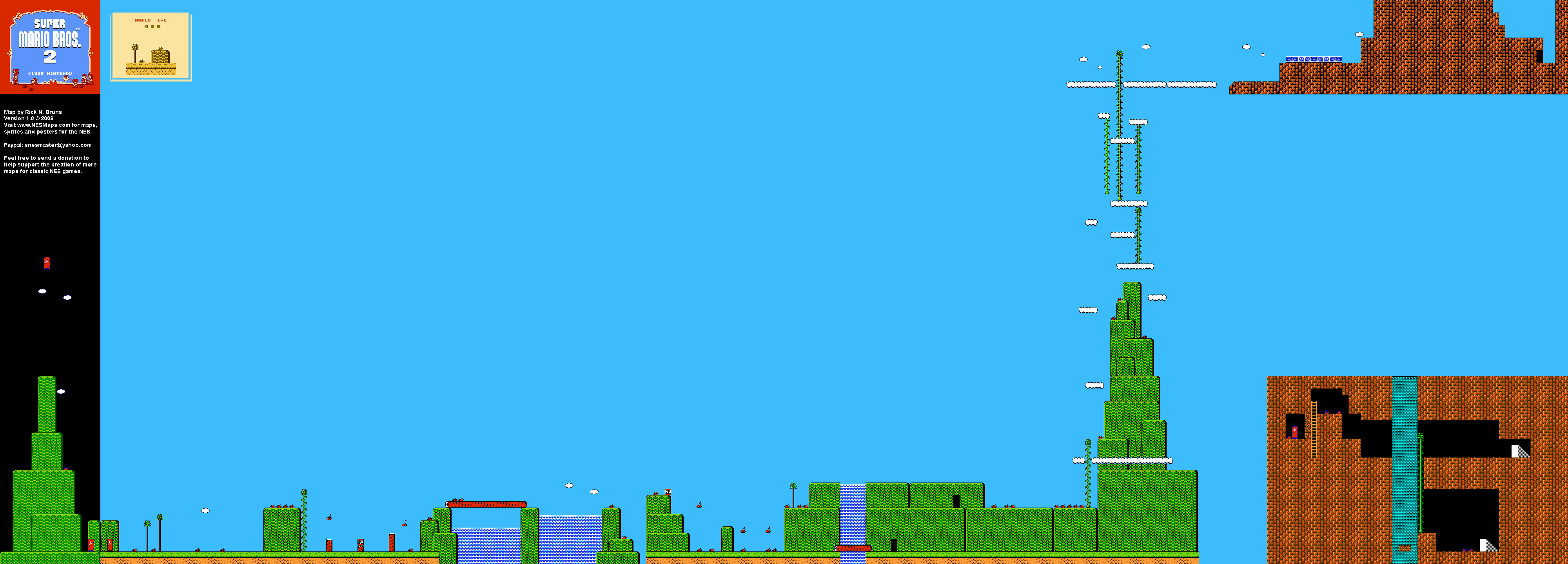 Mario Brothers Background Super Mario Brothers 2 World