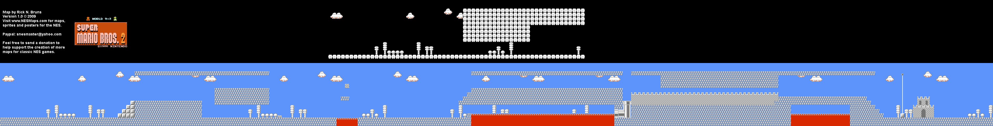 Super Mario Bros 2 Japan The Lost Levels World 9 3 Nintendo Nes Famicom Fds Background