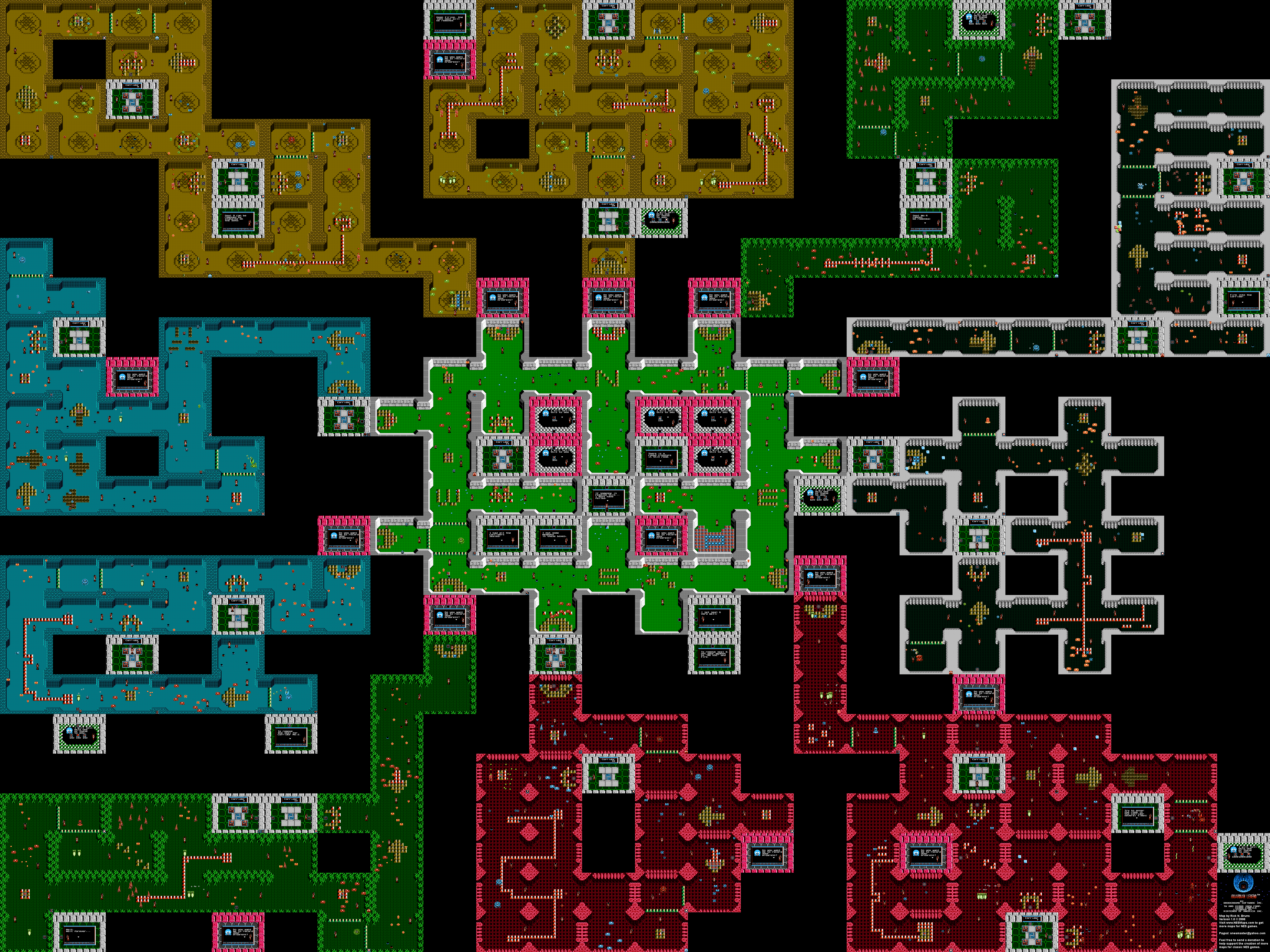 The Guardian Legend Map