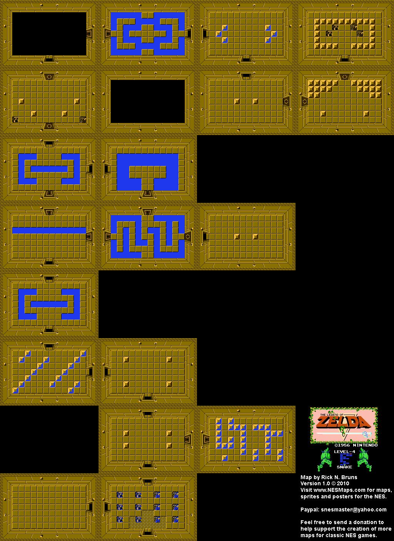 The Legend of Zelda - Level 4 Snake Quest 1 Map BG