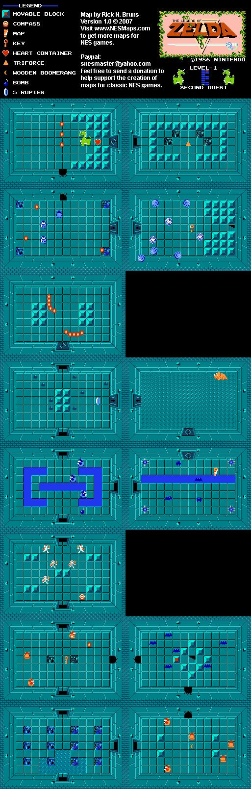 The Legend of Zelda - Level 1 Quest 2 Map