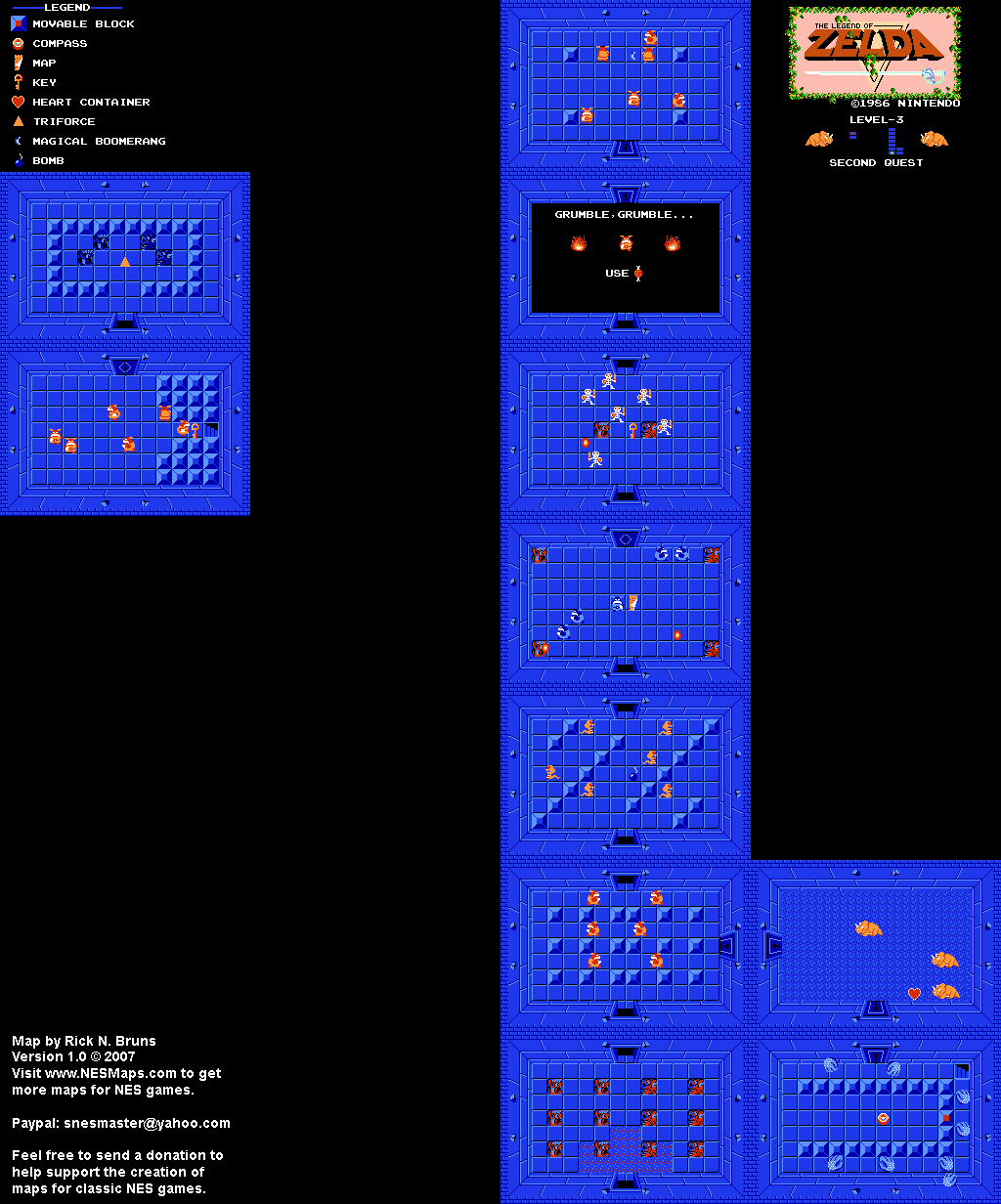 The Legend of Zelda - Level 3 Quest 2 Map