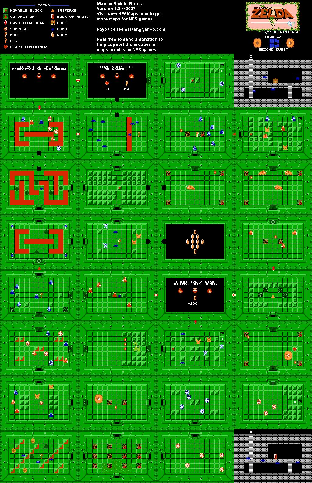 The Legend of Zelda - Level 4 Quest 2 Map
