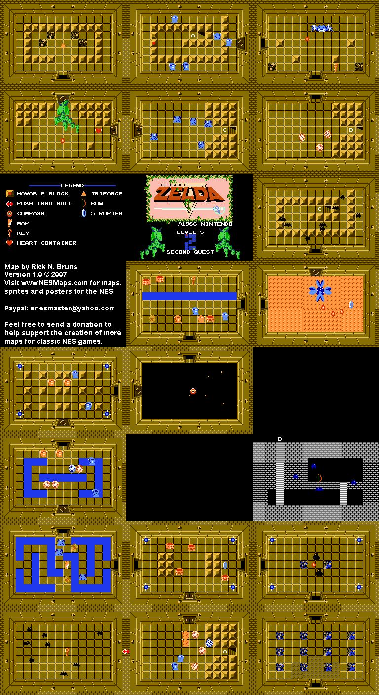 The Legend of Zelda - Level 5 Quest 2 Map