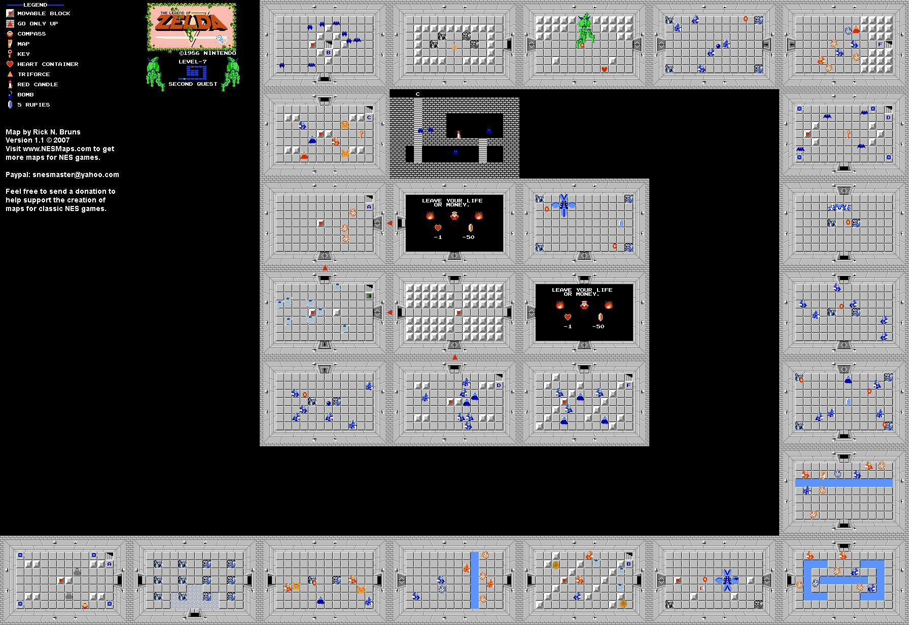 The Legend of Zelda - Level 7 Quest 2 Map