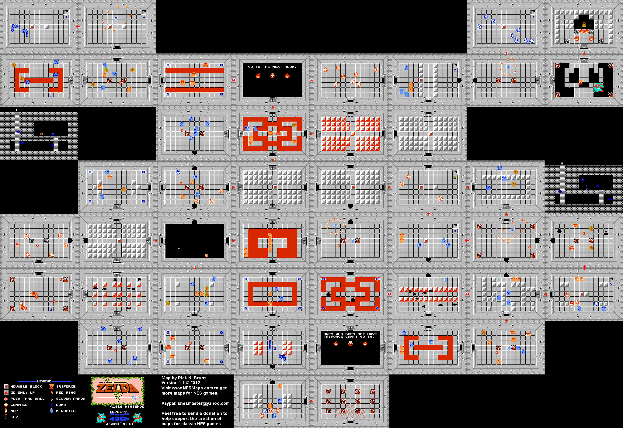 The Legend of Zelda - Level 9 Quest 2 Map