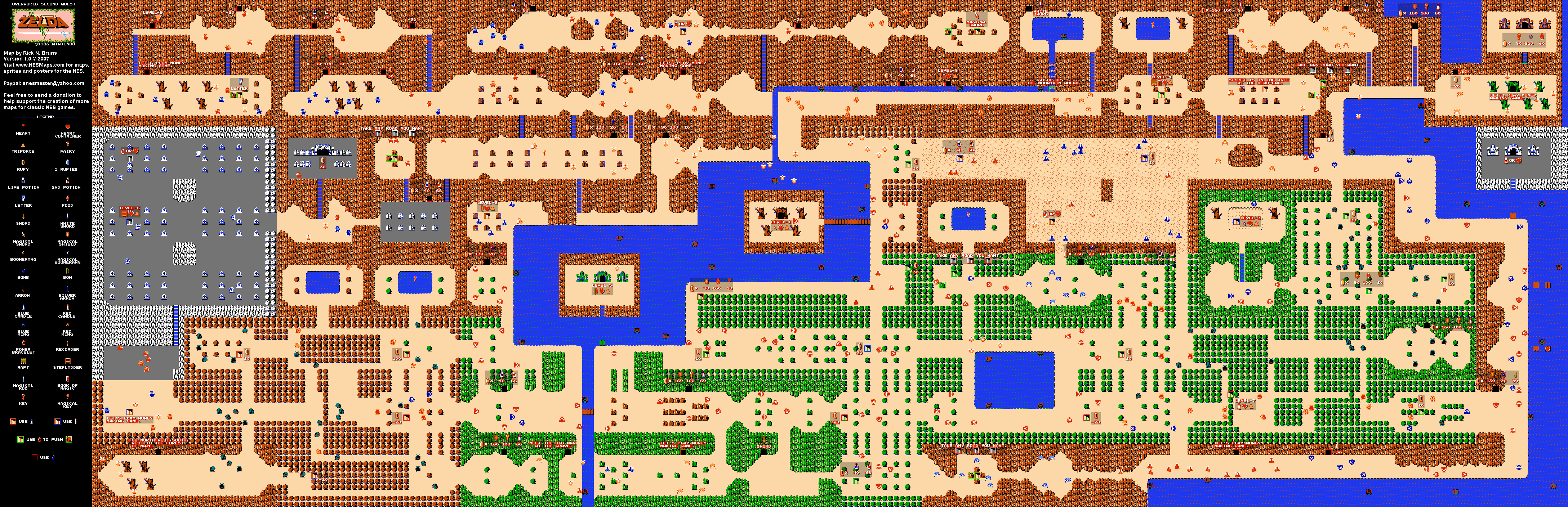 the legend of zelda  overworld quest   nes map. the legend of zelda  overworld quest  map