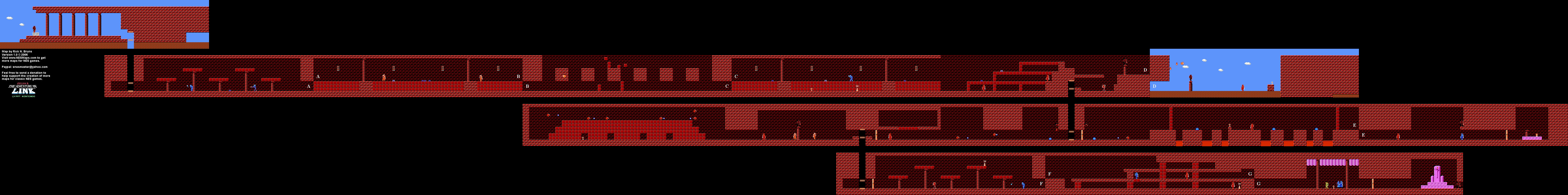 Zelda II - Island Palace (Level 3) Map [21]