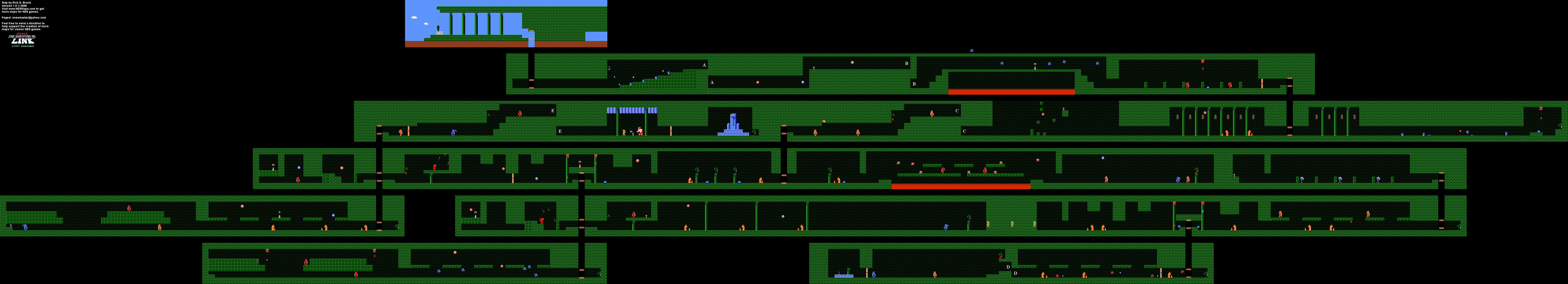 Zelda II - Palace on the Sea (Level 5) Map [31]